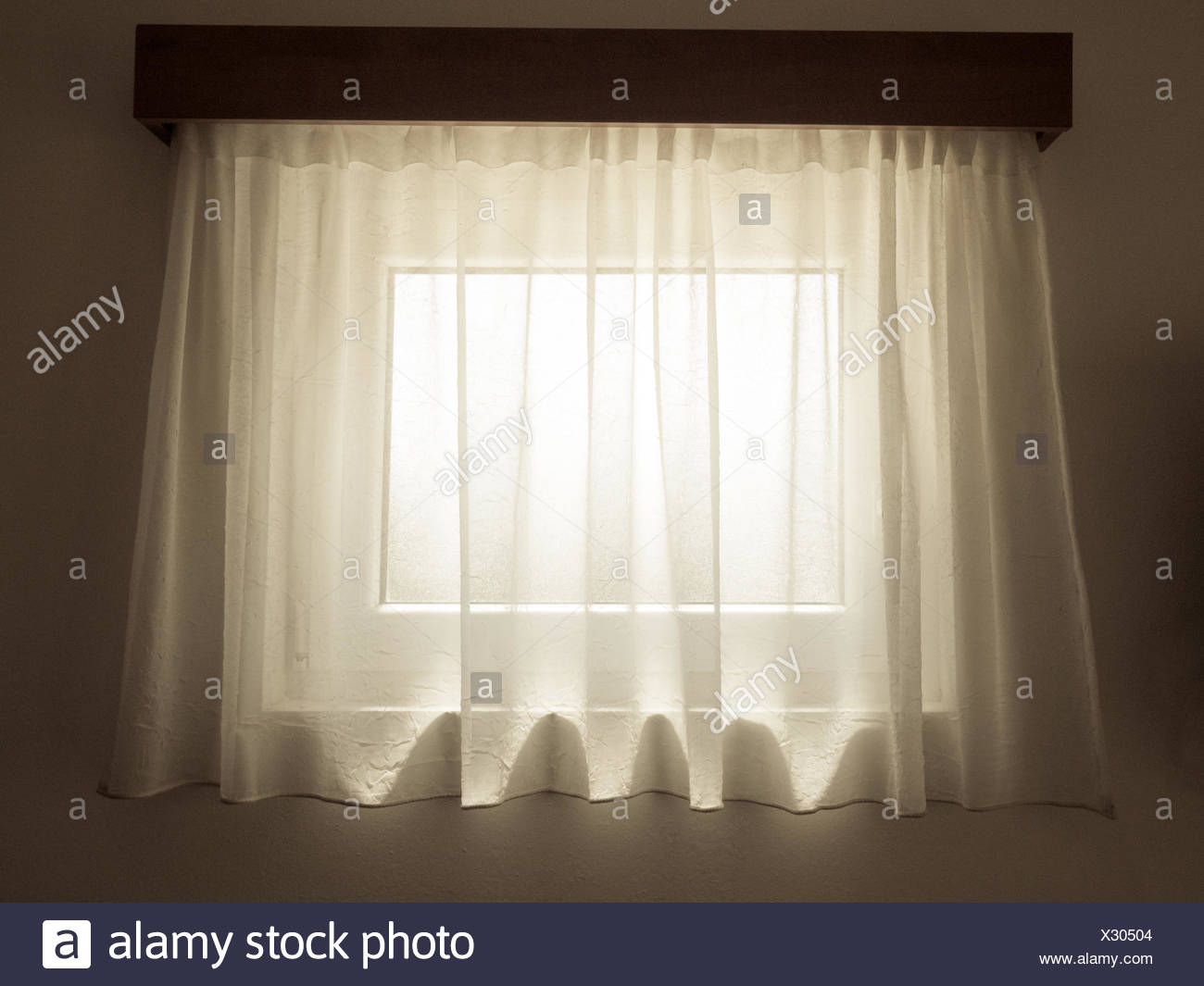 interior curtain - Stock Image