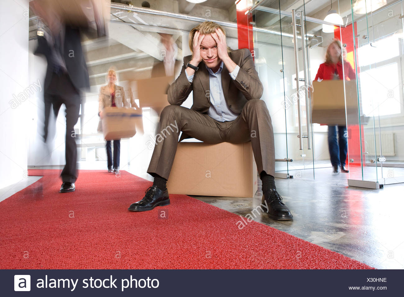 office removal - Stock Image