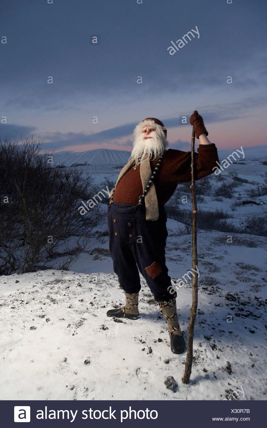 Icelandic Yule Lad, Santa Claus, Iceland - Stock Image