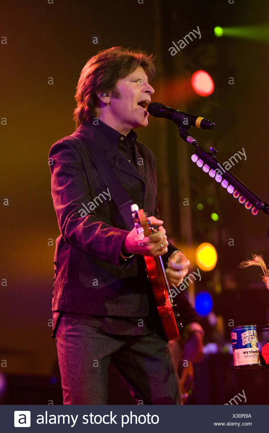 The U.S. singer and songwriter John Fogerty live at the Blue Balls Festival in the Luzernersaal hall of the KKL in Lucerne, Swi - Stock Image