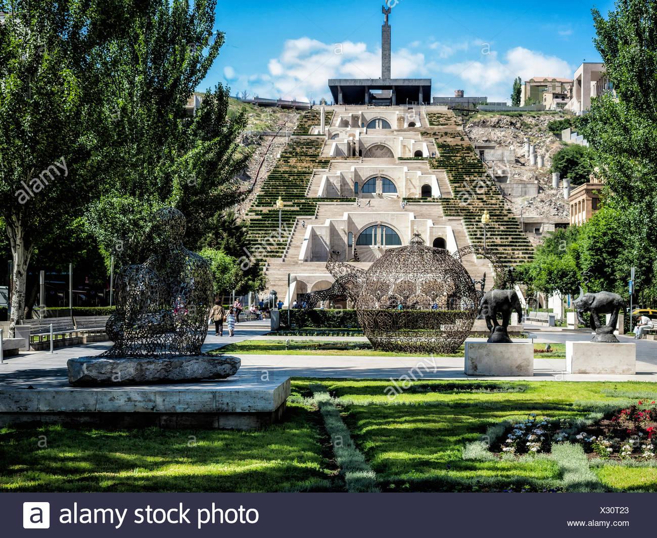 Cascade, center Yerevan, Yerevan region, Armenia - Stock Image