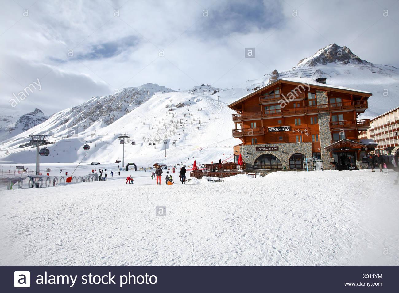 Tignes, France, Ski resort Stock Photo