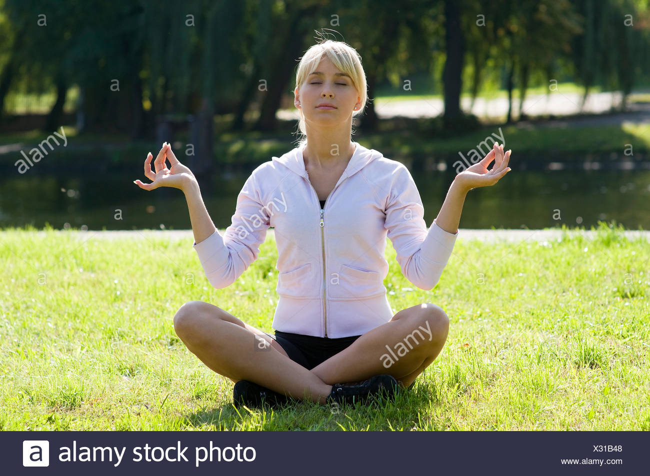 classic yoga pose Stock Photo - Alamy