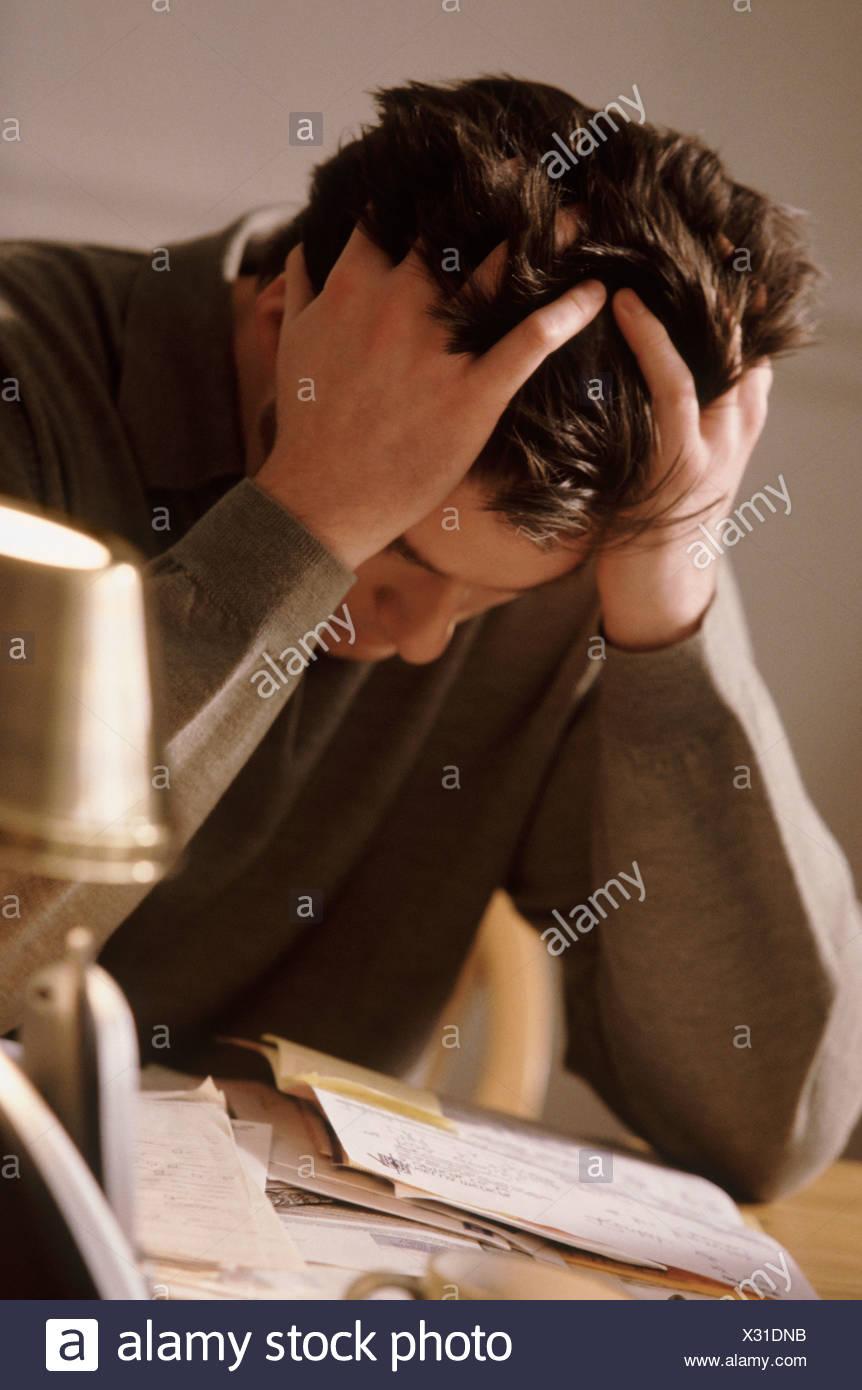 Depressed man - Stock Image