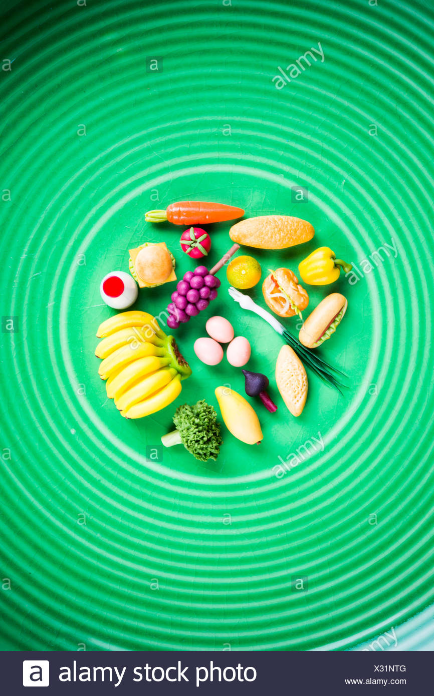 Conceptual image of a healthy food. - Stock Image