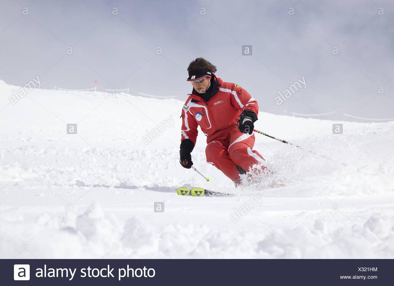 Skiing Stock Photo
