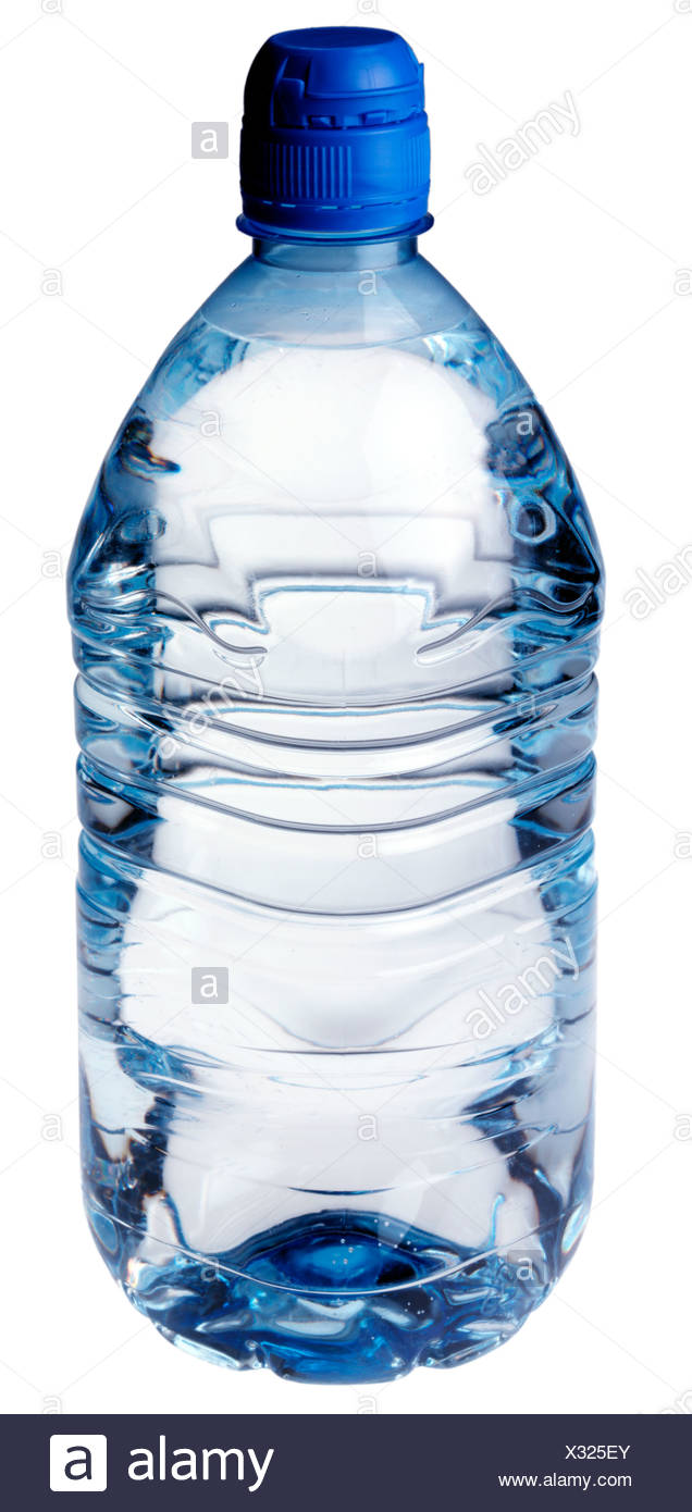 WATER BOTTLE CUT OUT - Stock Image