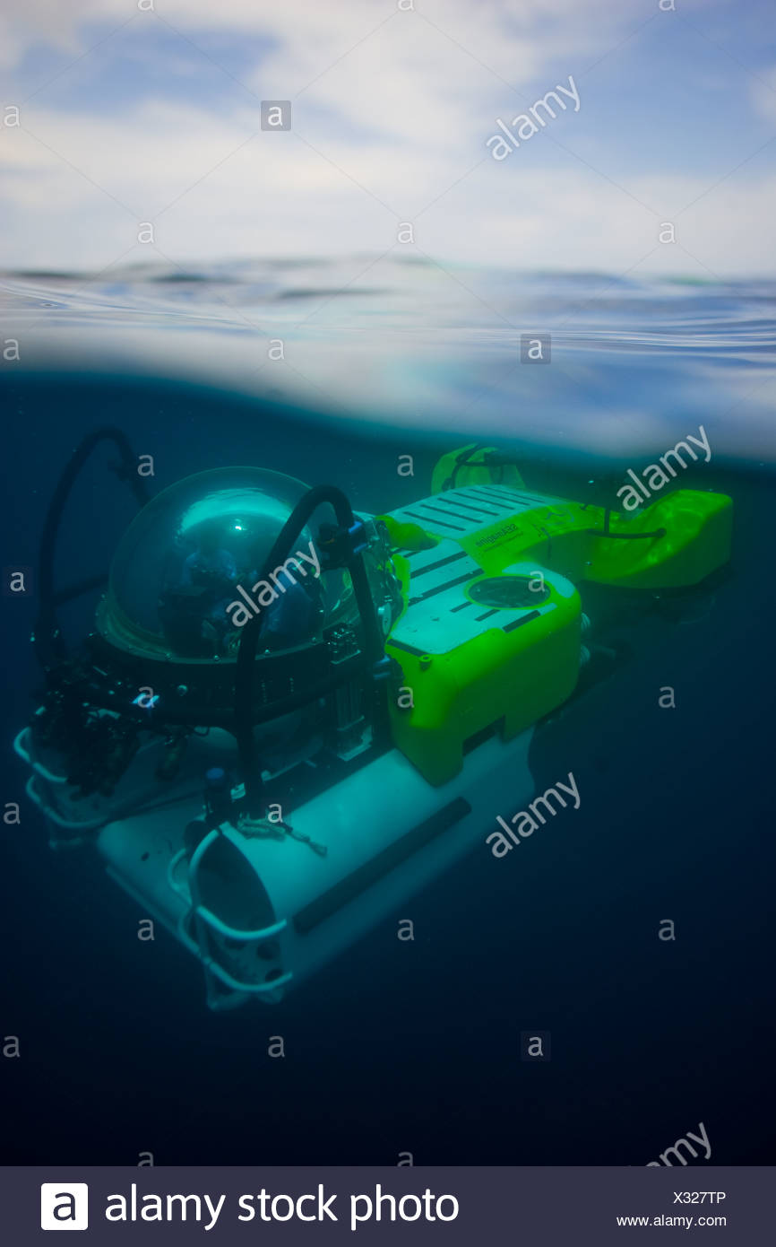 A submarine can take tourists down 1500 feet to see the depths. - Stock Image