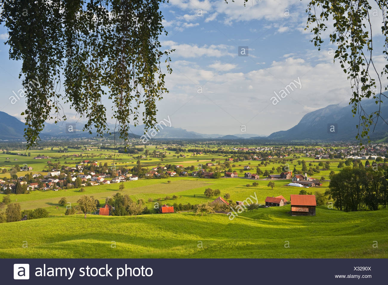 Switzerland, St. Gallen, Grabs (valley), - Stock Image