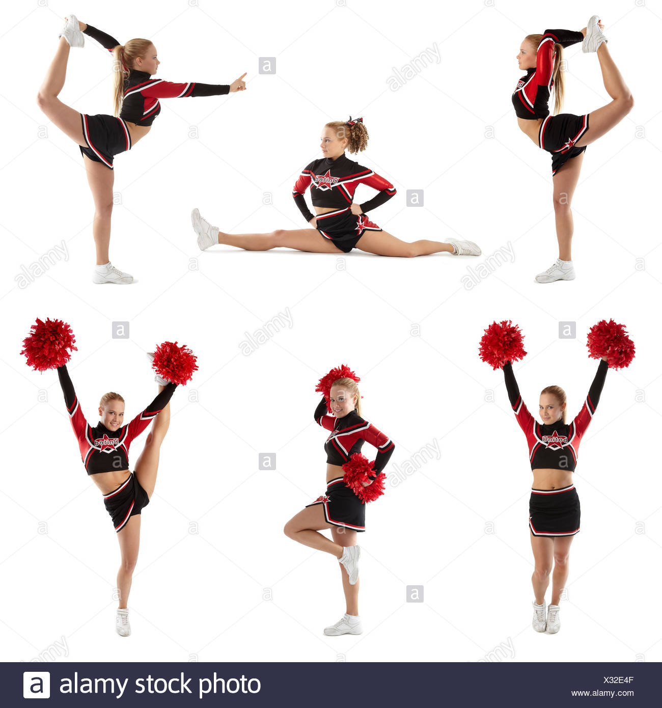 cheerleading posen - Stock Image