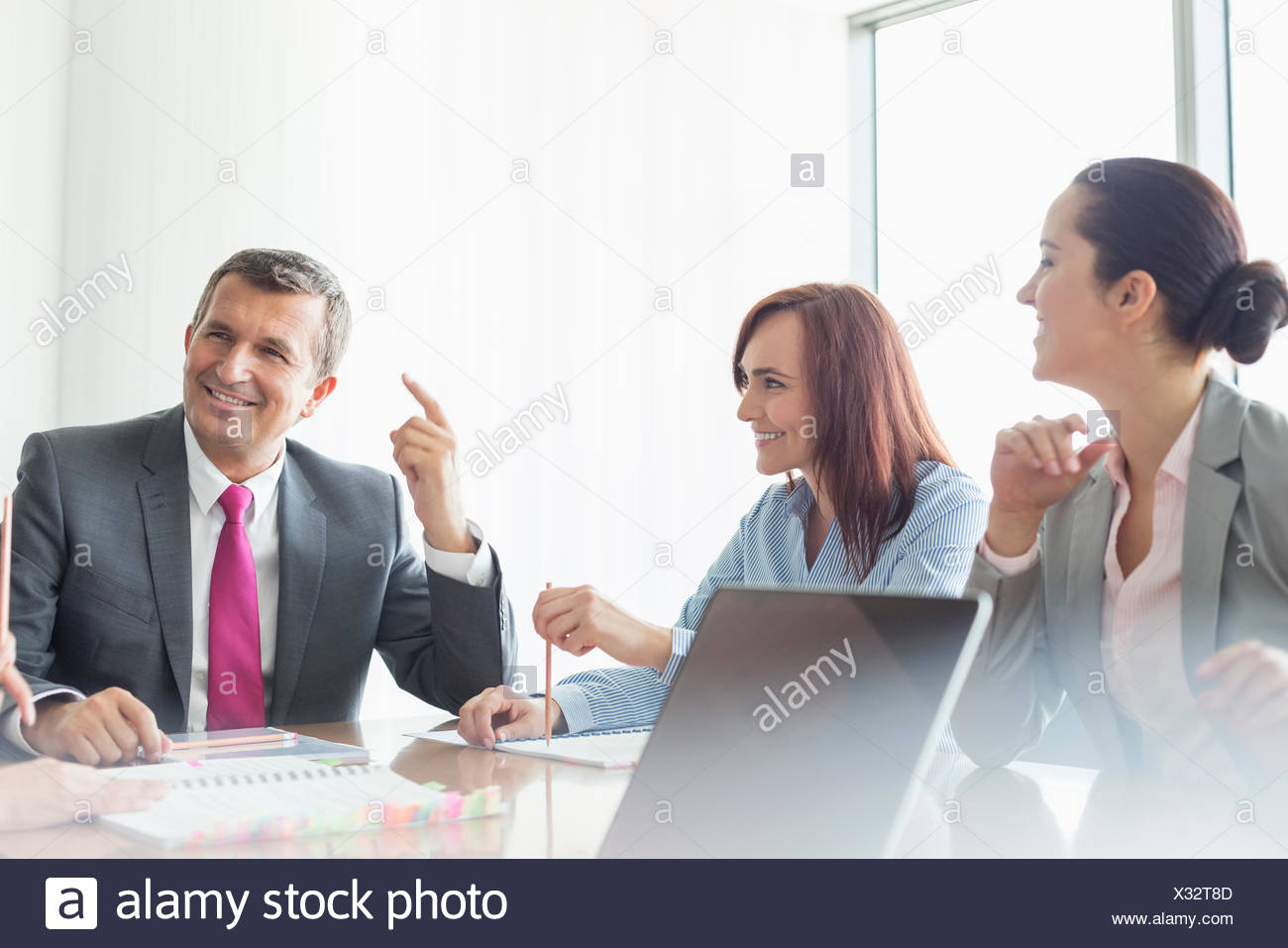 Business meeting in boardroom - Stock Image
