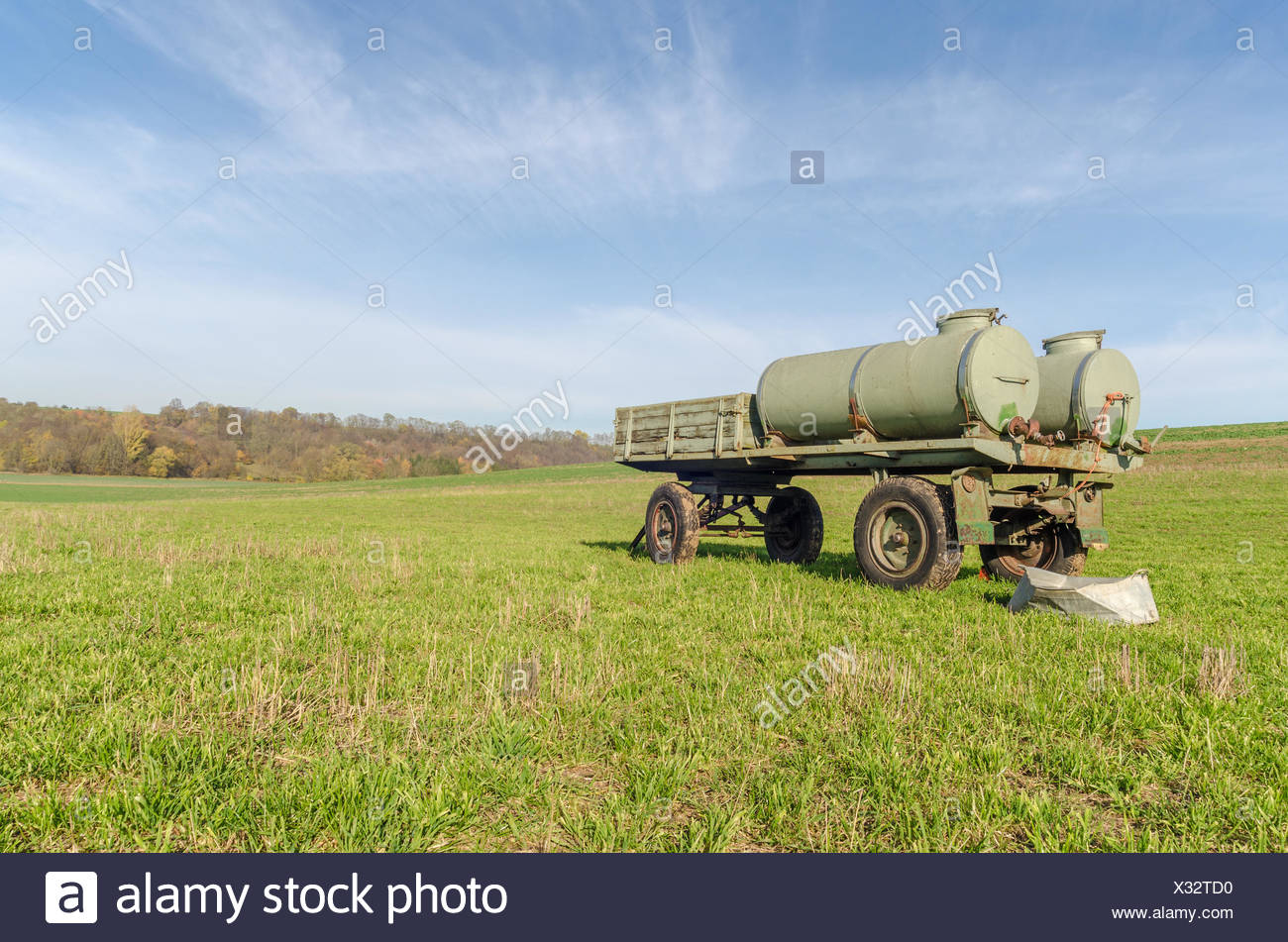 Trailers outdoors - Stock Image