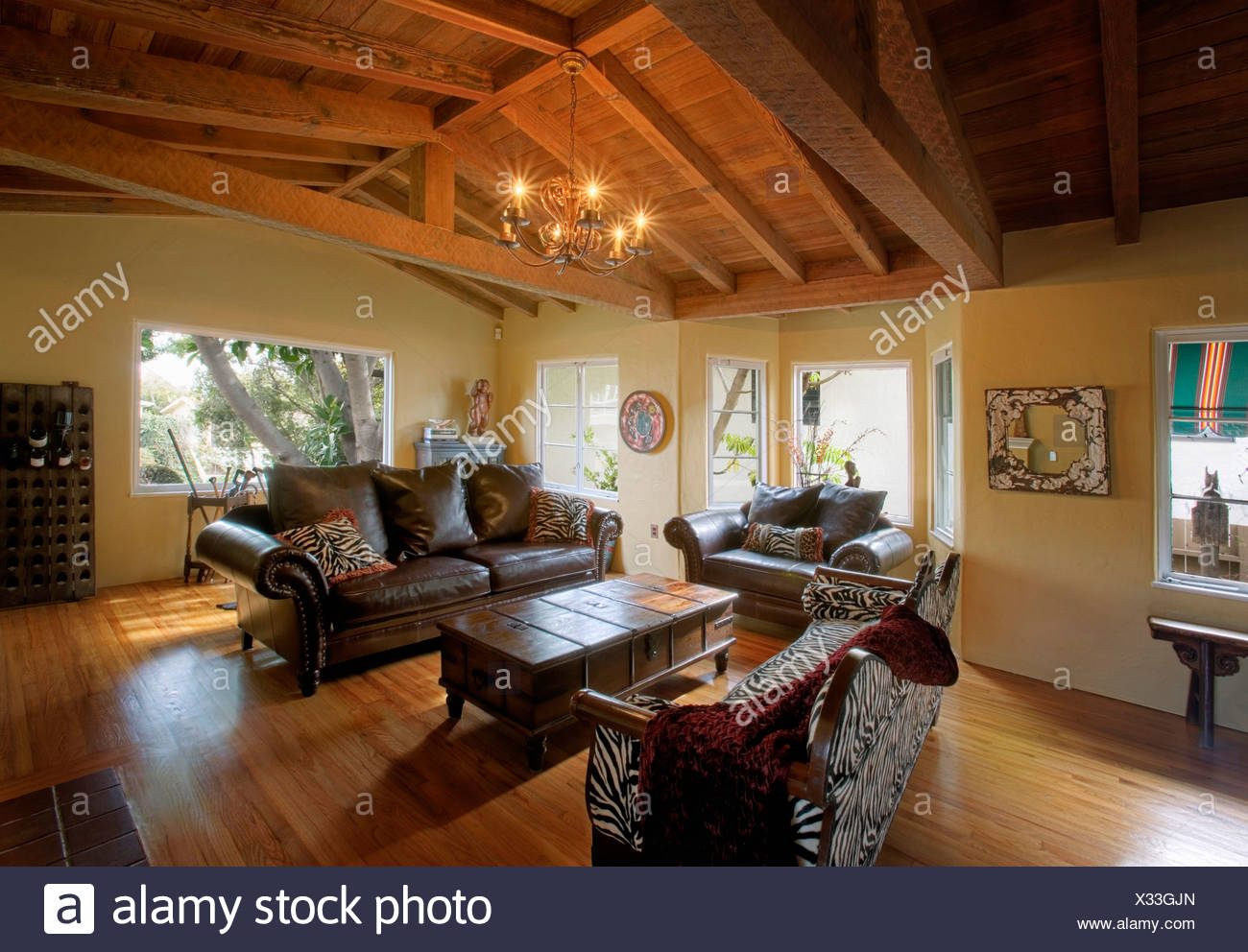 Fine Cozy Rustic Living Room With Vaulted Wood Ceiling Stock Download Free Architecture Designs Rallybritishbridgeorg