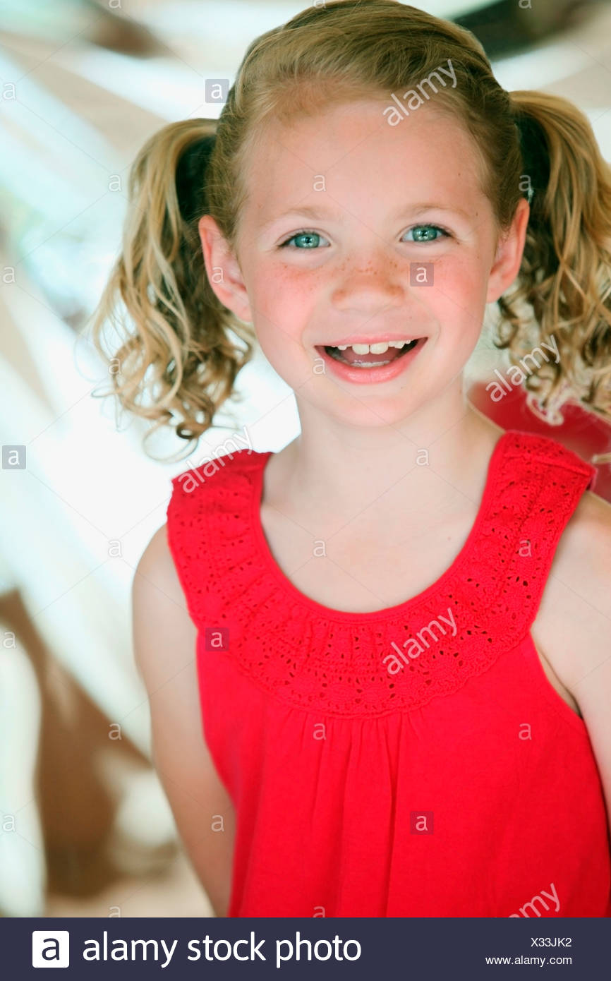 Portrait Of A Young Girl - Stock Image