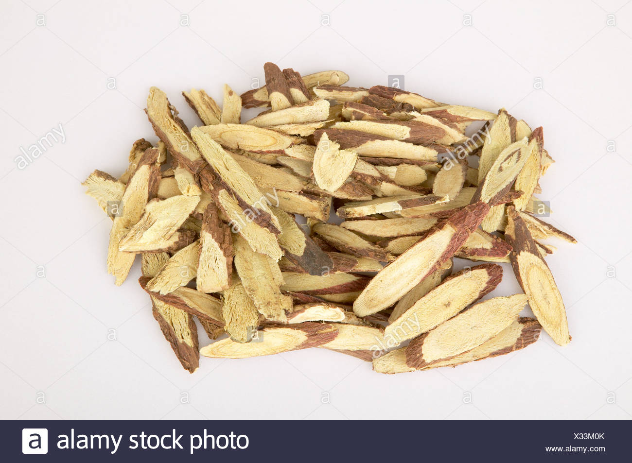 Dried licorice root - Stock Image
