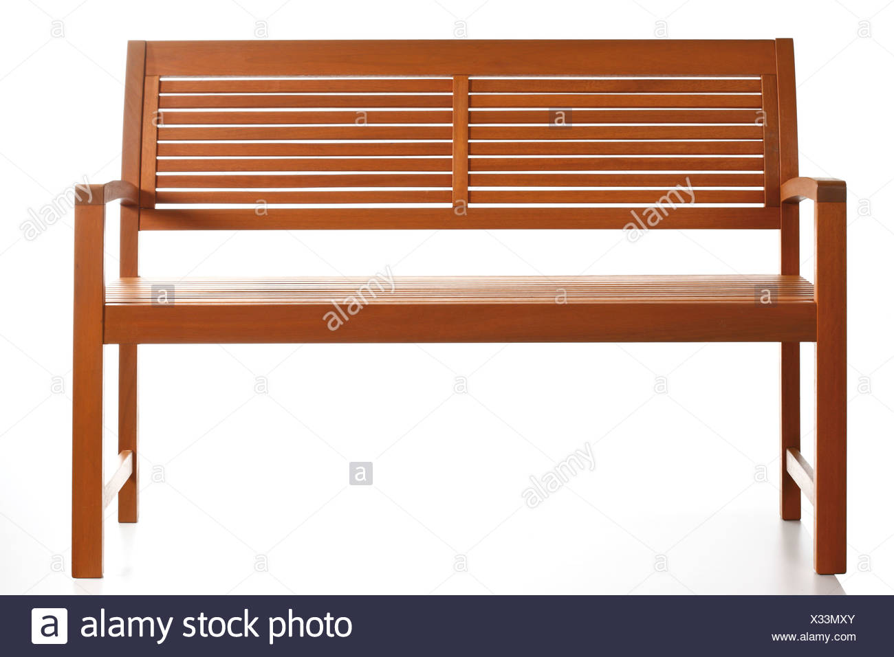 Wooden bench - Stock Image