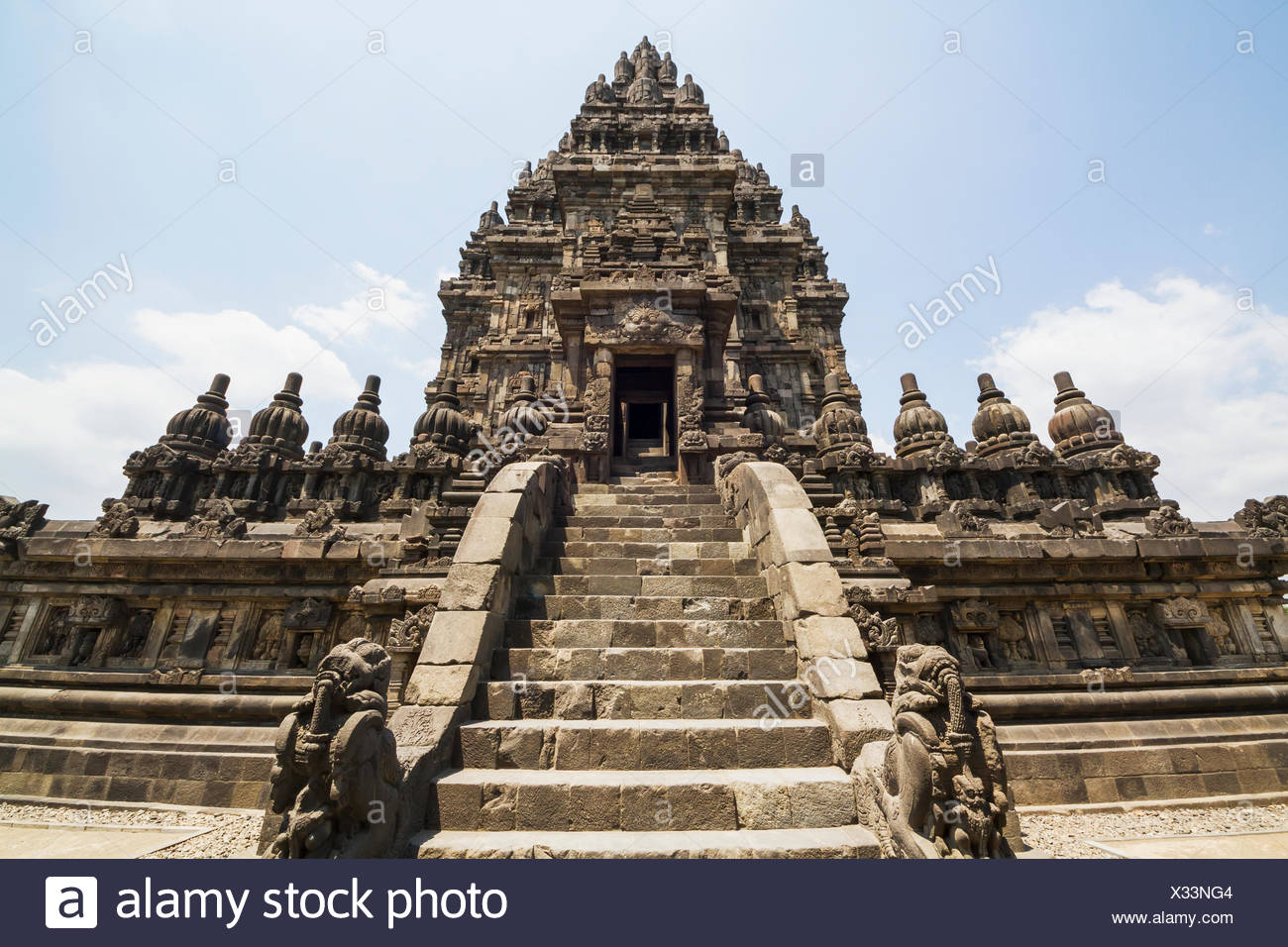Shiva temple, dating to the 9th century, Prambanan Temple Compounds, Central Java, Indonesia - Stock Image
