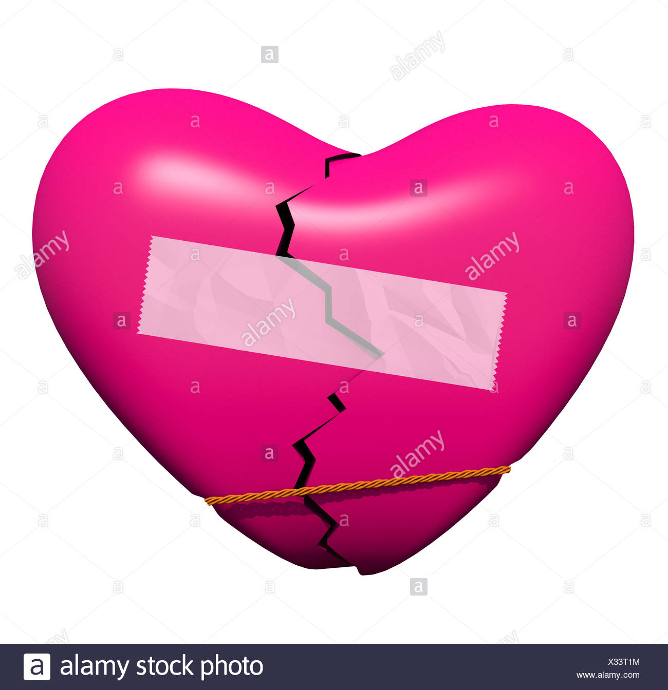 Mending a Broken Heart - Stock Image