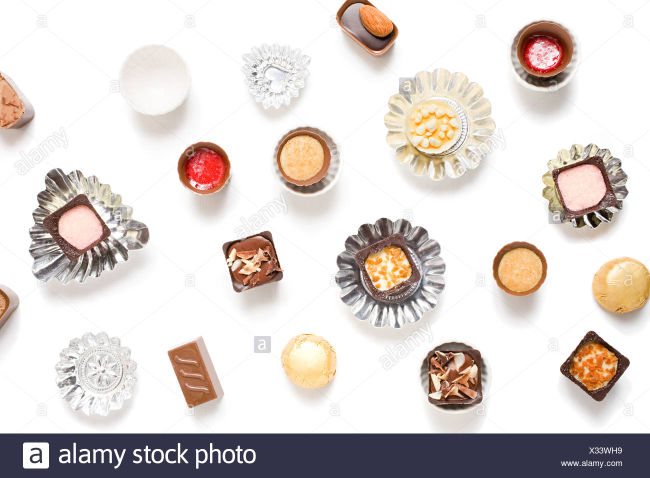 Chocolates with cases - Stock Image