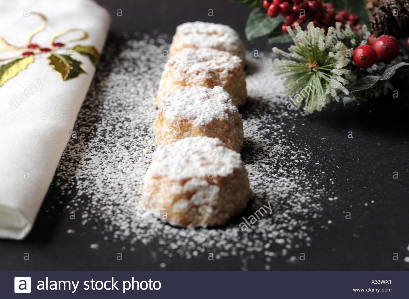 Italian macaroon (Amaretti) - Stock Image