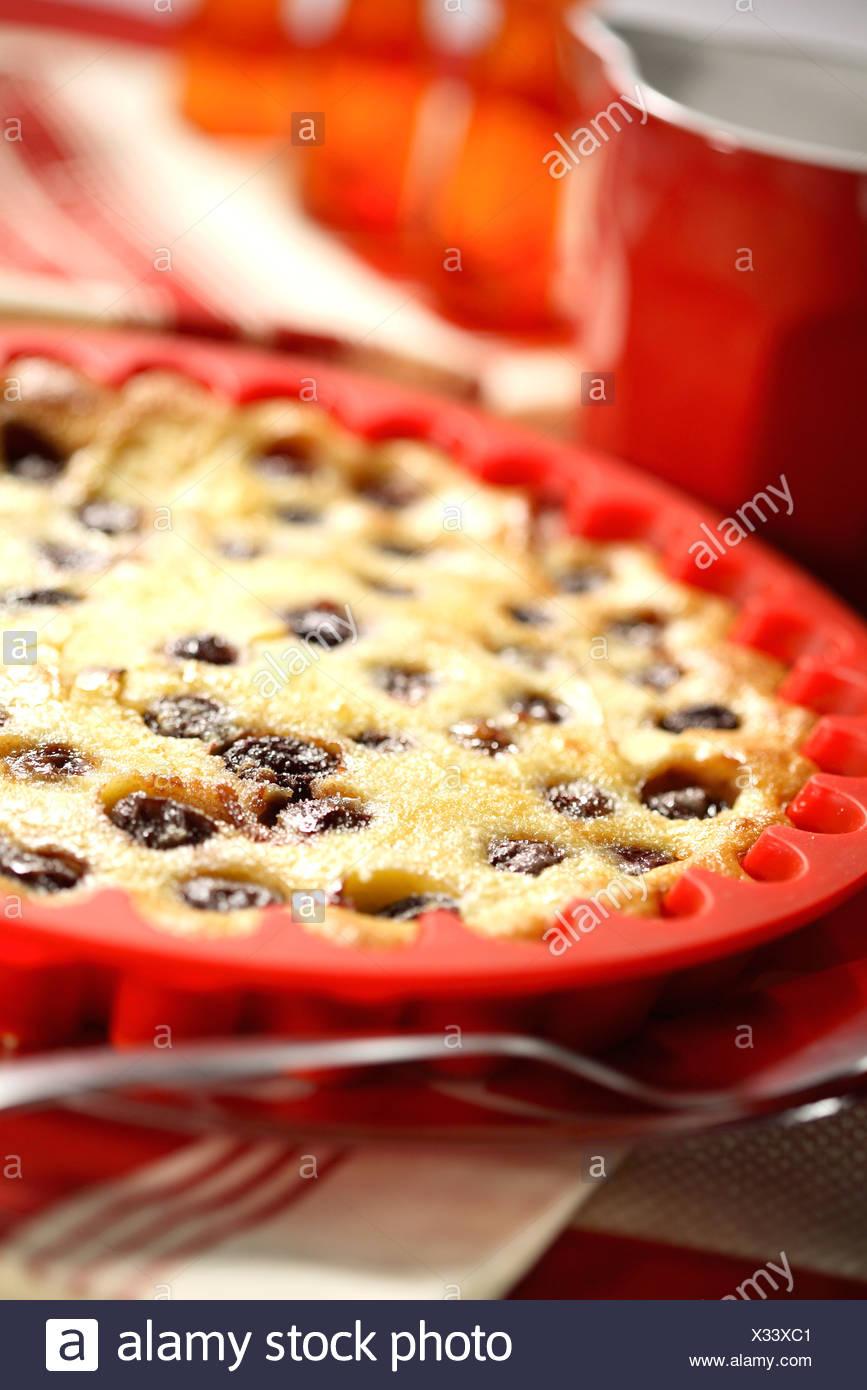 Sour cherry Clafoutis - Stock Image