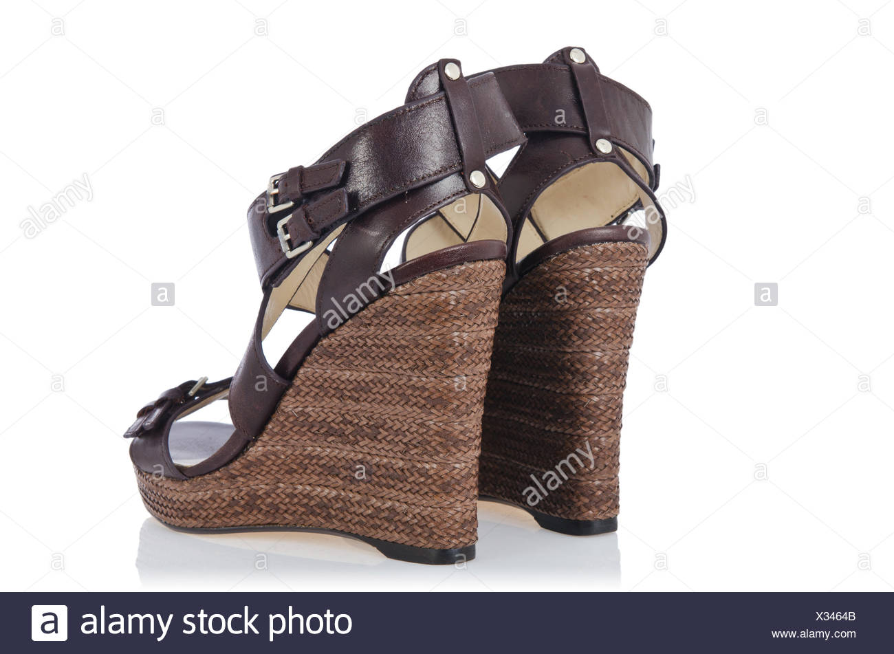 634a28e8cd0 Nice woman shoes isolated on white Stock Photo  277302491 - Alamy