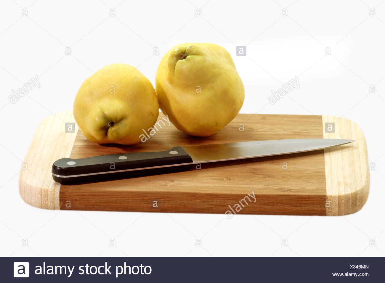 quince on the cutting board Stock Photo