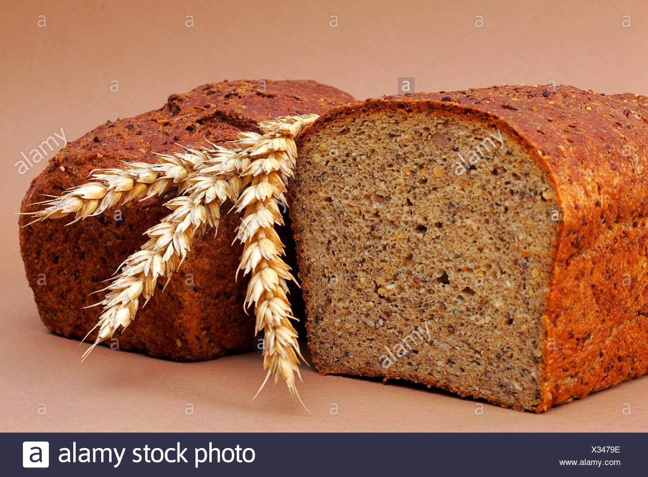 loaf of bred and  ears - Stock Image