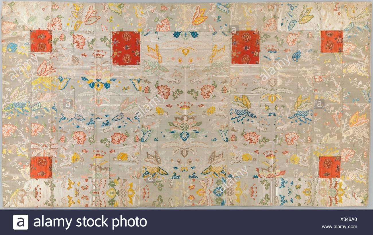 Buddhist Vestment (Kesa). Period: Edo period (1615-1868); Date: 18th century; Culture: Japan; Medium: Lampas, silk; squares:silk satin, brocaded, - Stock Image