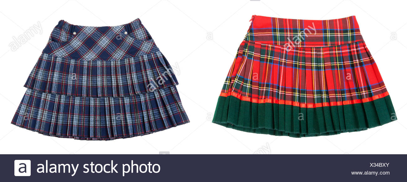 skirt, blue, single, isolated, fashion, green, small, tiny, little, short, - Stock Image
