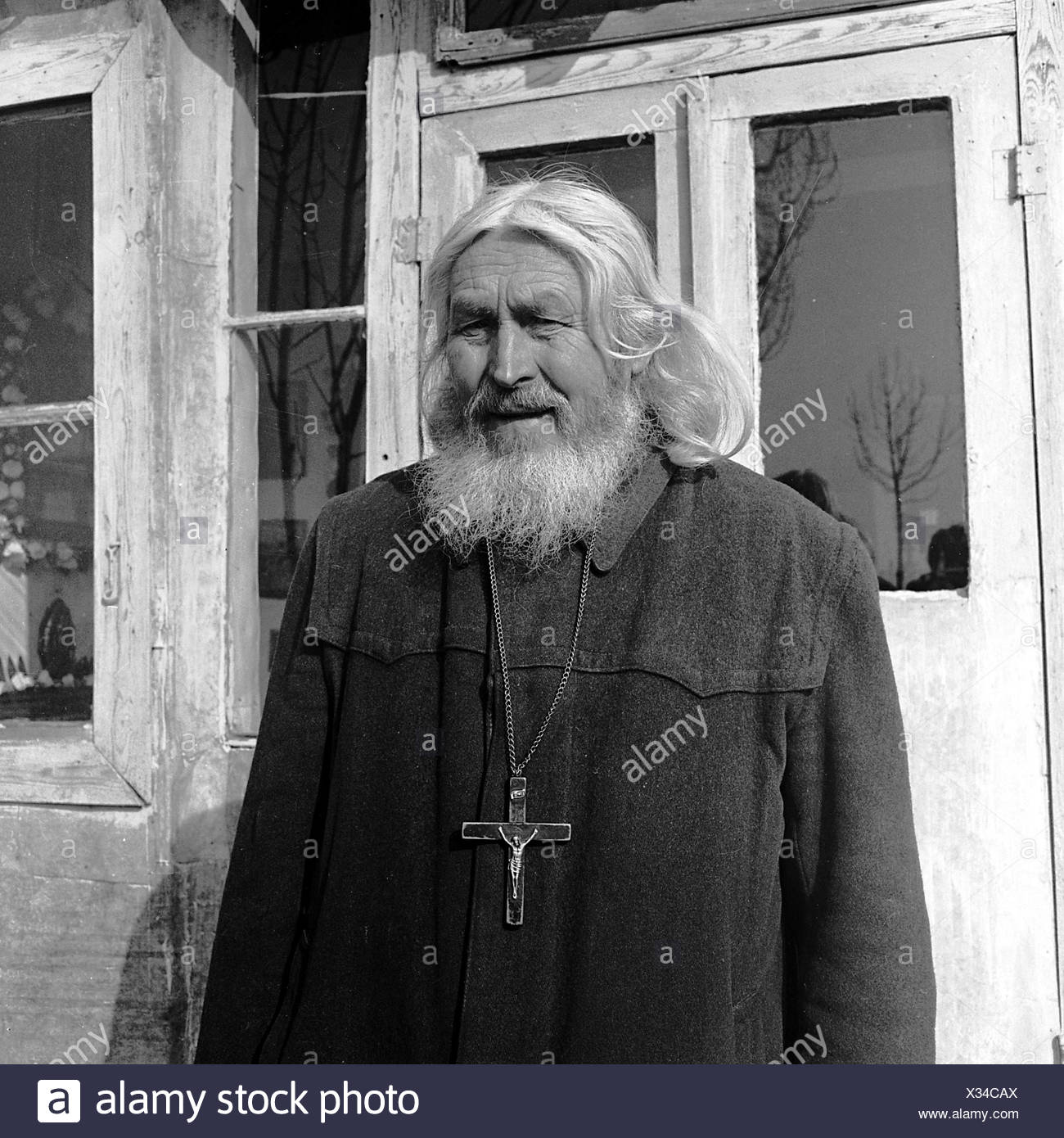 Timofey (born Timofey Vasilevich Prochorov), 22.1.1894 - 13.7.2004, Russian hermit in Munich, Germany, half length, 1968, Additional-Rights-Clearances-NA - Stock Image