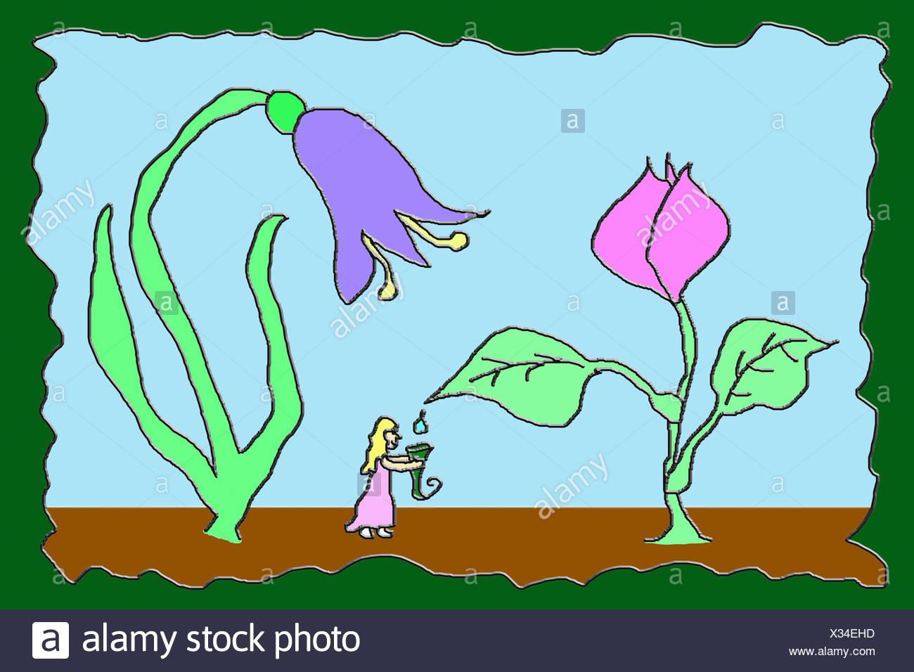 Little fairy - Stock Image
