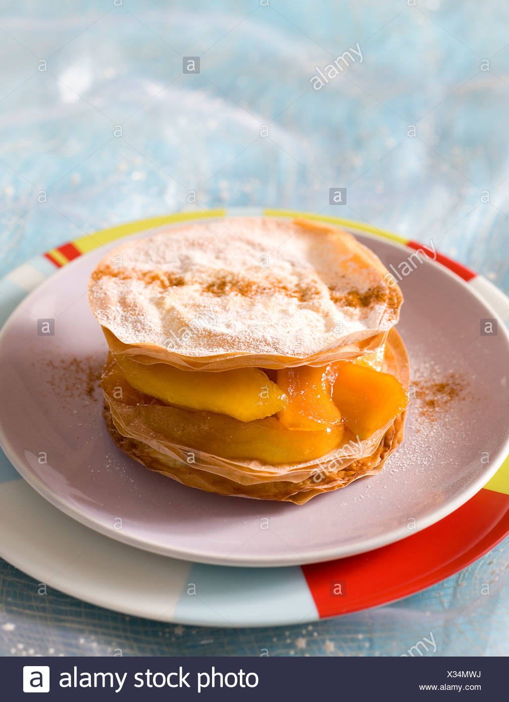 Apple Pancakes - Stock Image