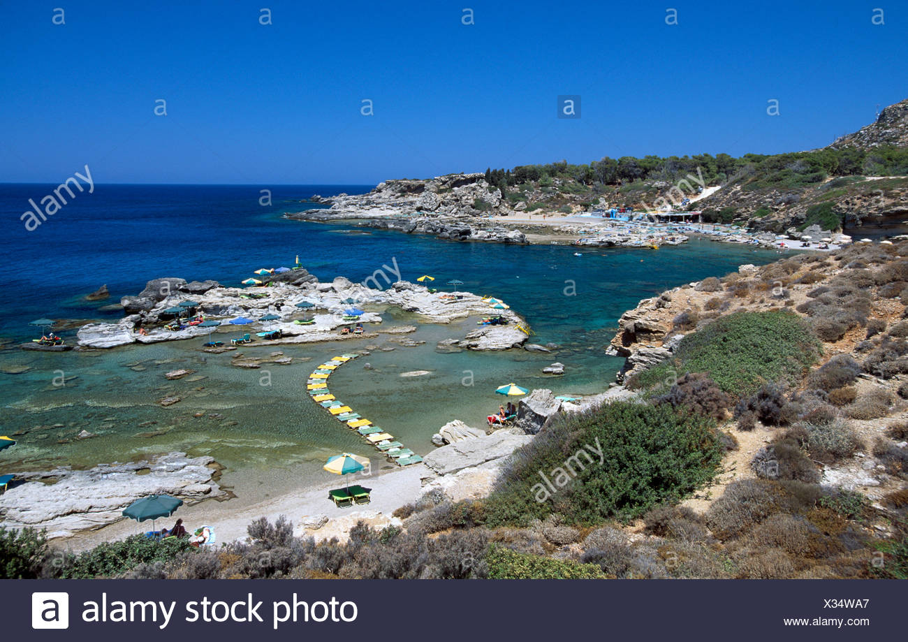Thassos Beach Rhodes Dodecanese Islands Greece Europe