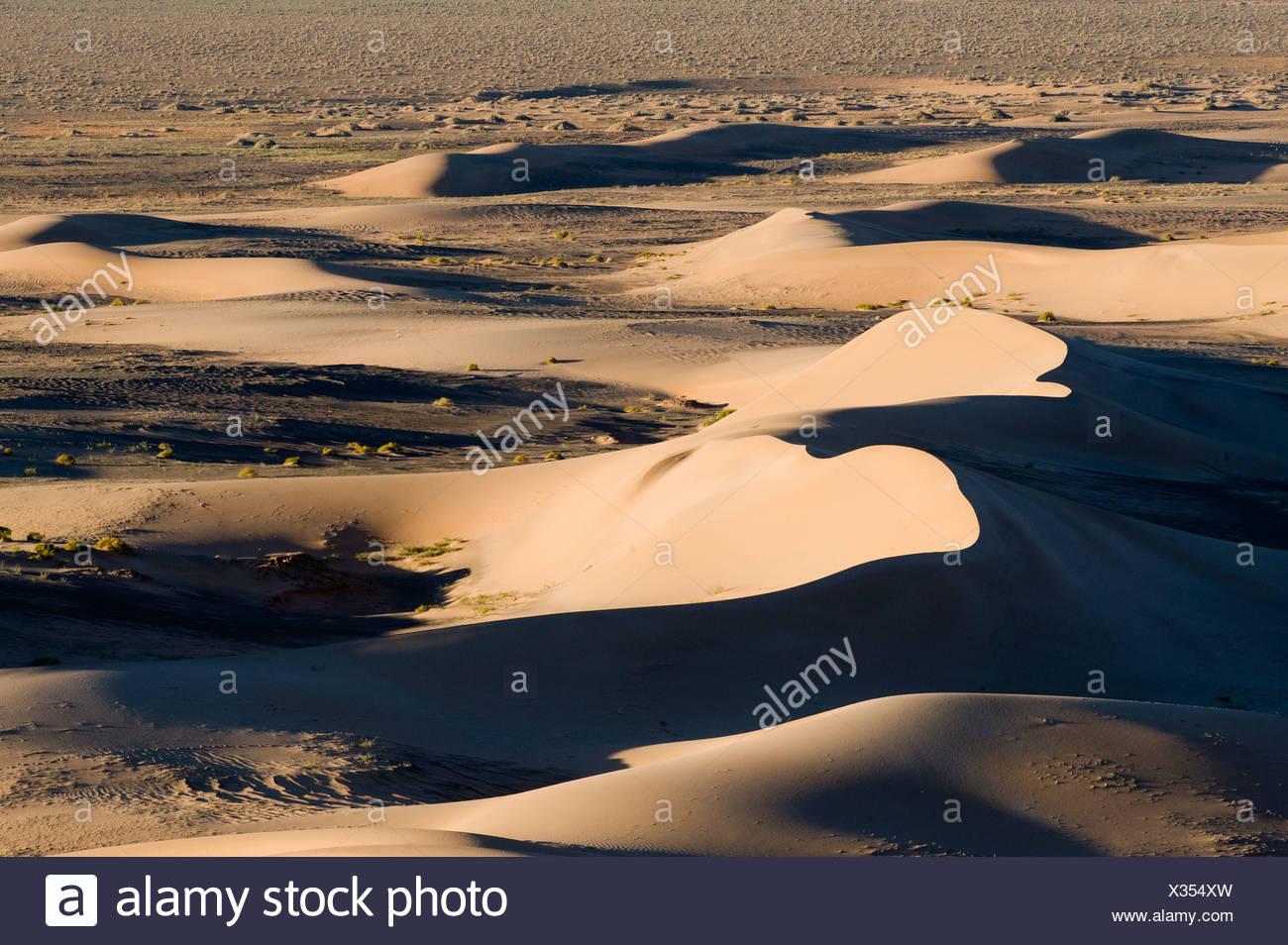 Khongoryn Els sand dunes in southern Gobi Desert Mongolia winter - Stock Image