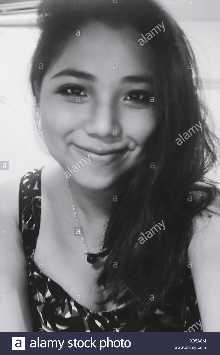 Portrait Of Beautiful Smiling Woman - Stock Image