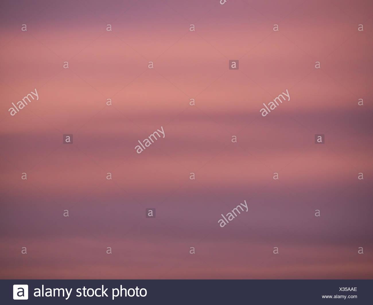 Purple and magenta sky - Stock Image