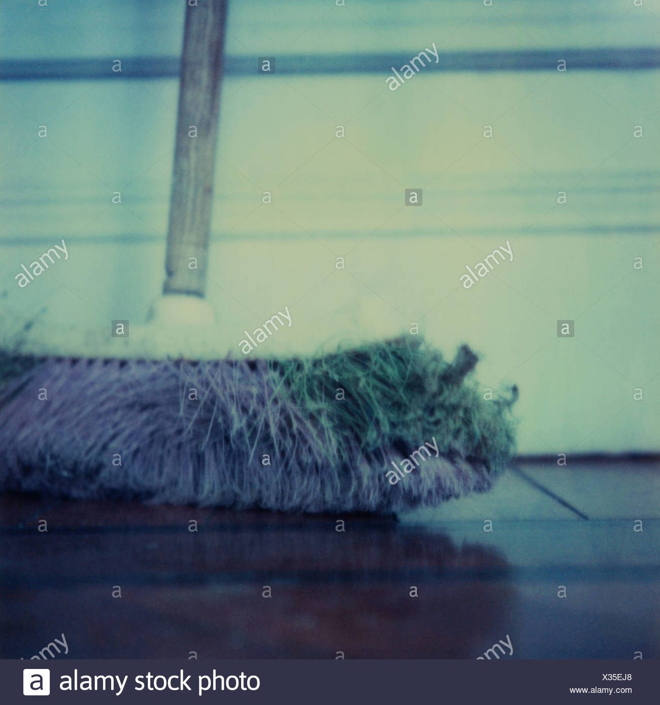Broom, cropped view - Stock Image