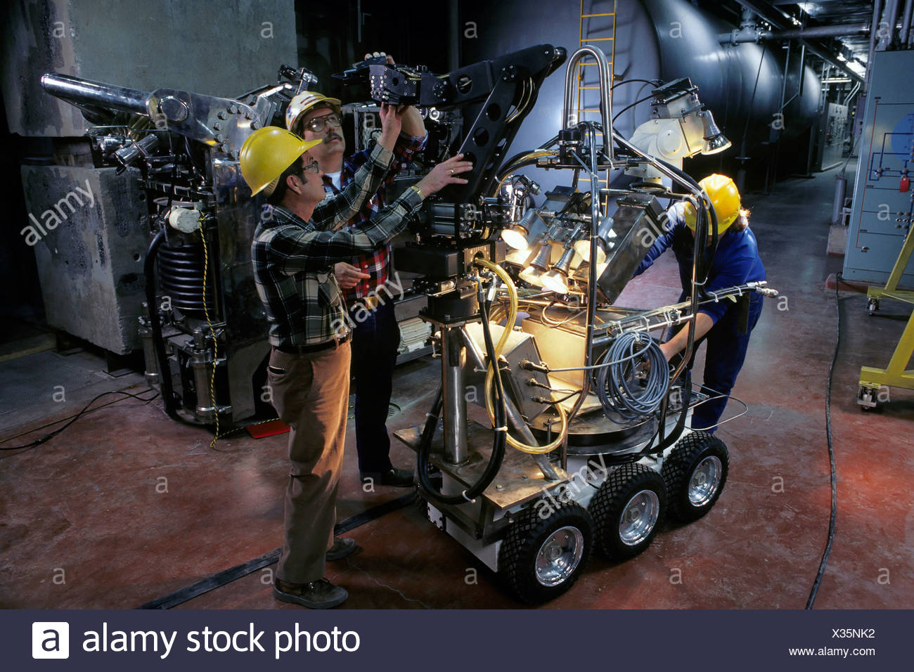 Robot Cleanup of Three Mile Island Nuclear Plant - Stock Image