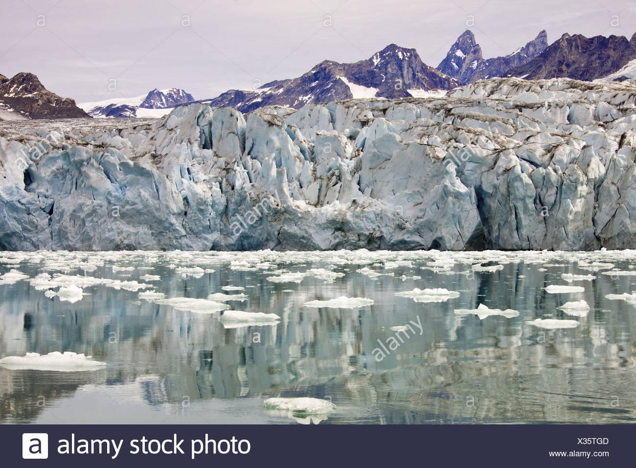 Knud Rasmussen glacier, Greenland Stock Photo