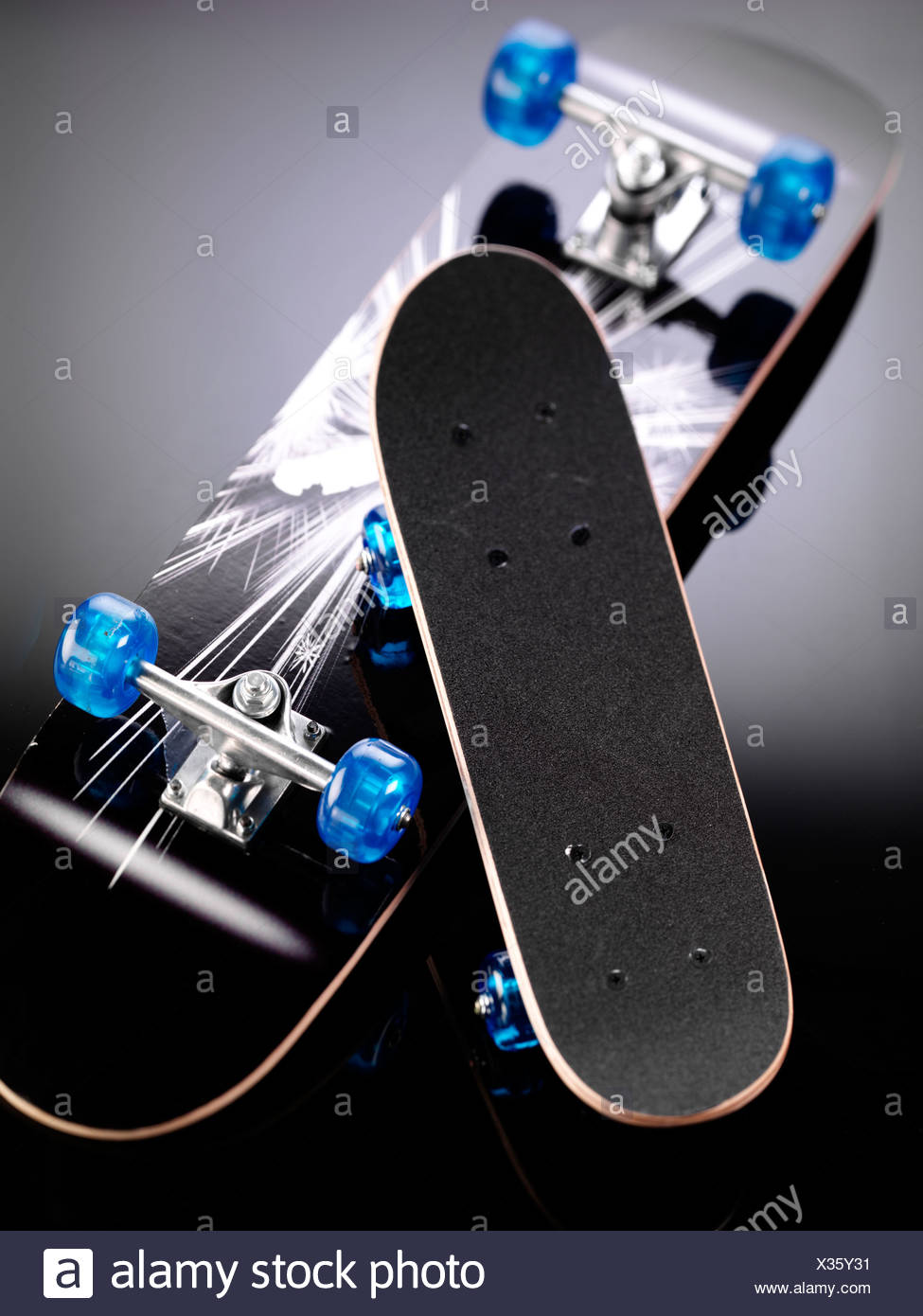 TWO SKATEBOARDS - Stock Image