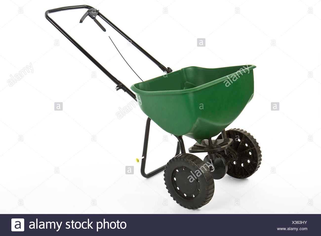 garden grow spreader - Stock Image