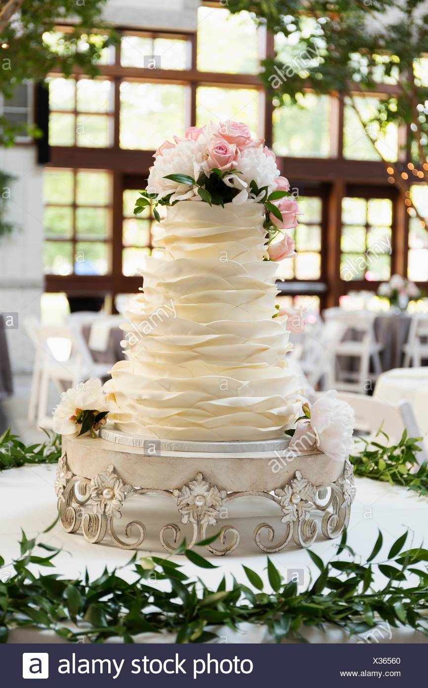 Wedding cake - Stock Image