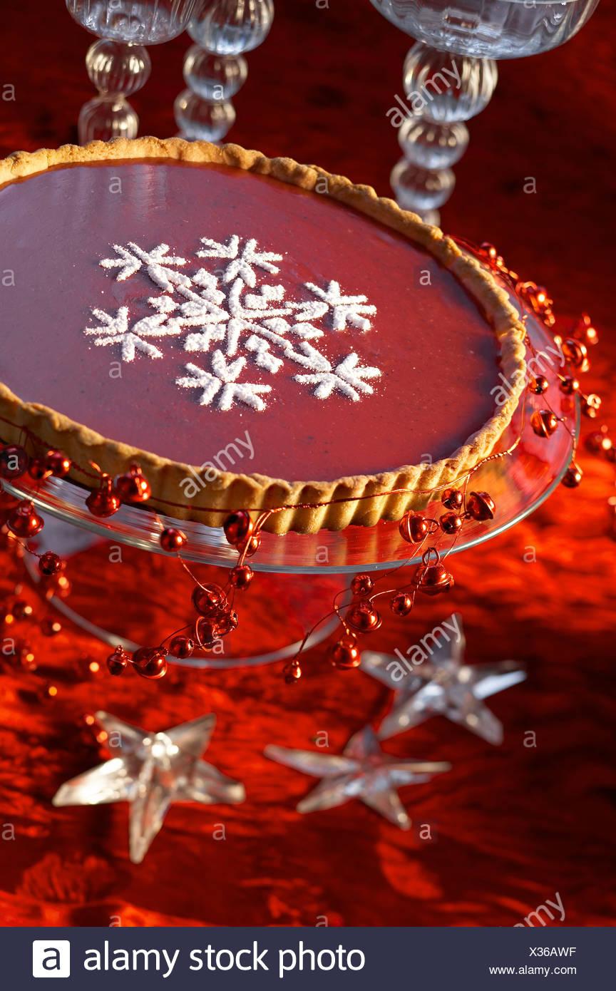 Christmas Pink Tart - Stock Image