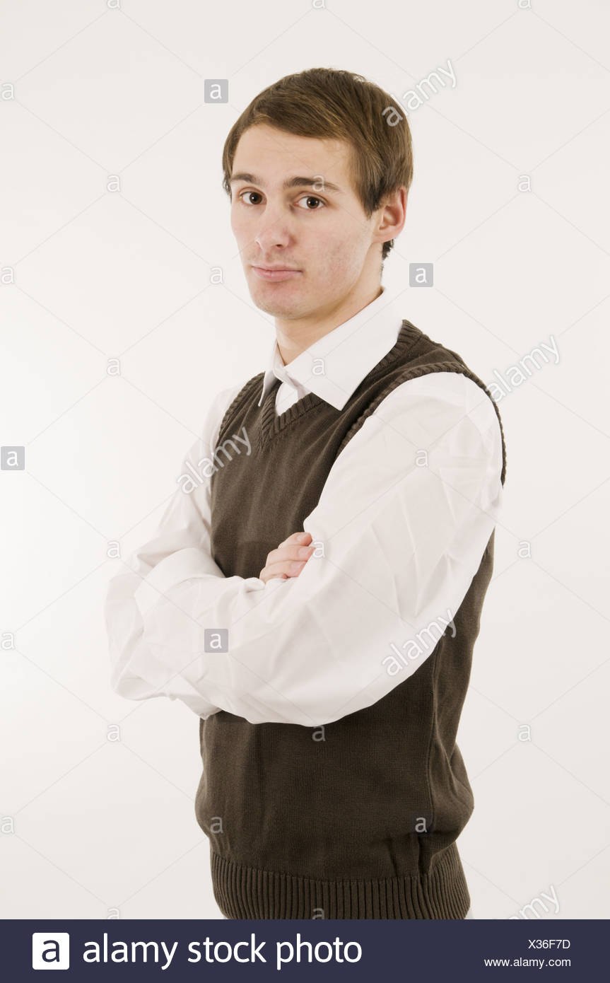 young man with tank top - Stock Image