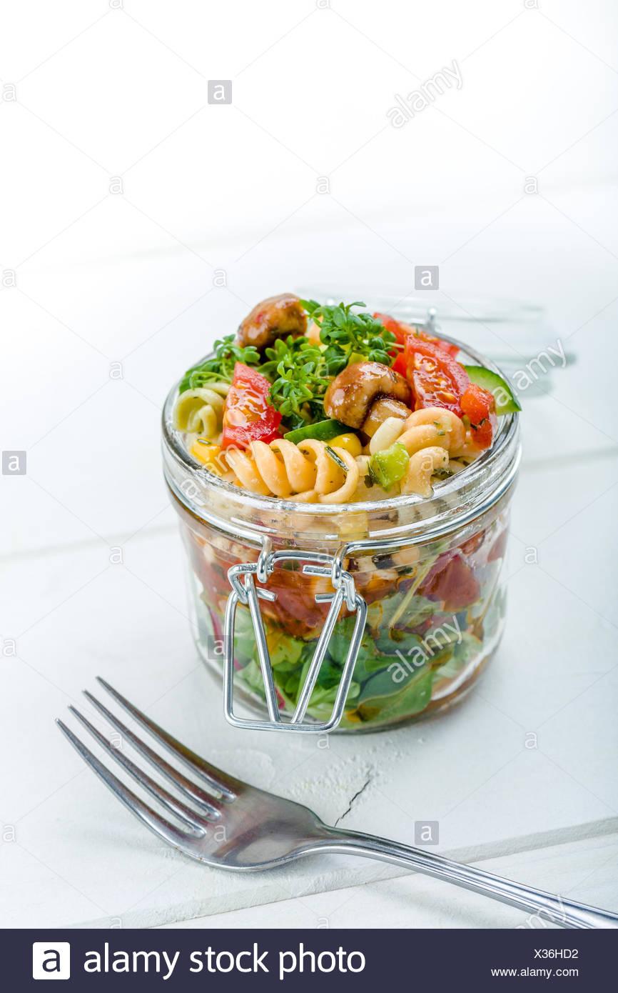 salat im glas stock photos salat im glas stock images alamy. Black Bedroom Furniture Sets. Home Design Ideas