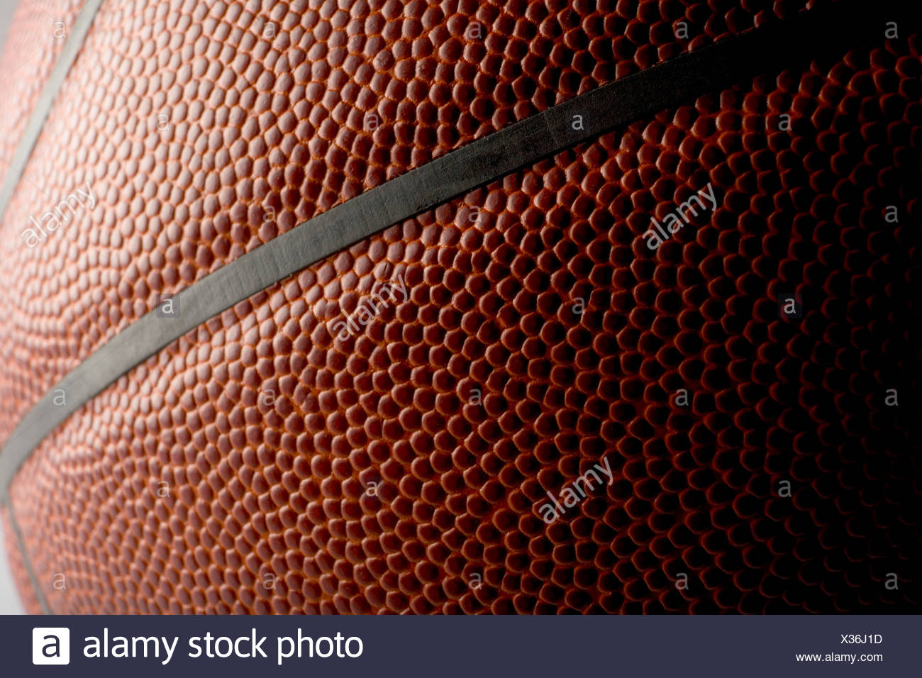 Close up of a basketball Stock Photo