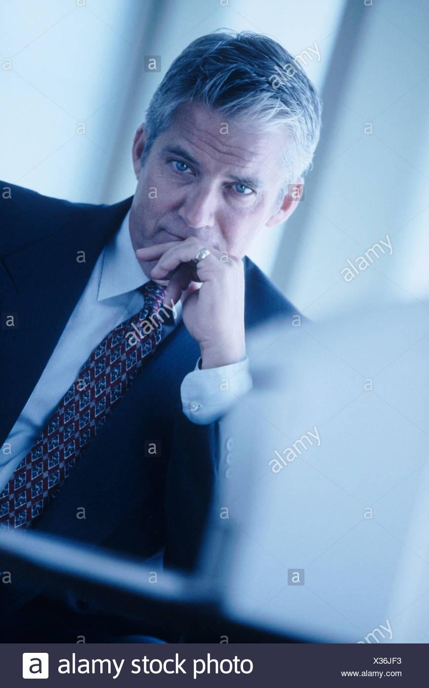 Serious businessman - Stock Image