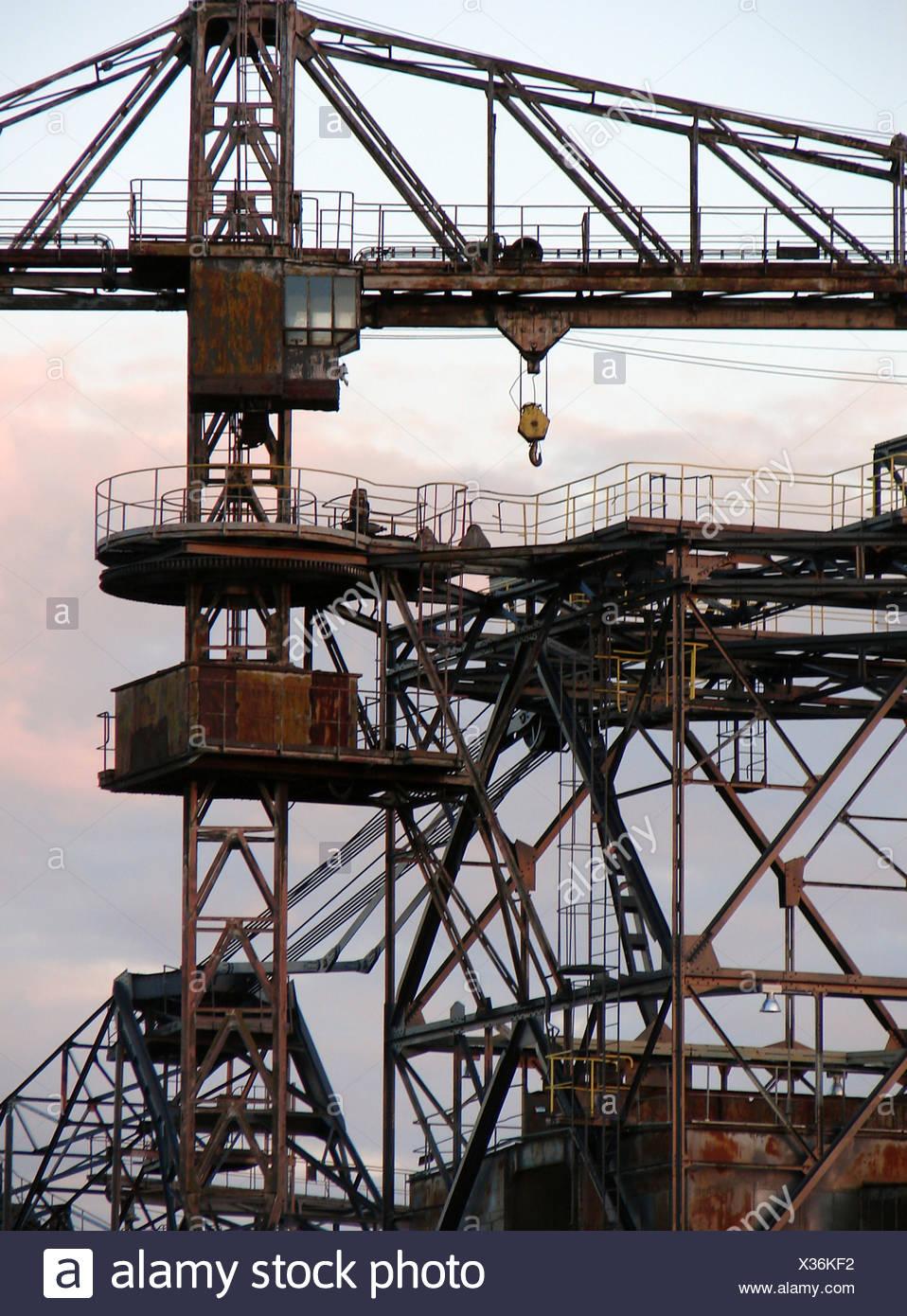 industrial land,opencast,ferropolis - Stock Image