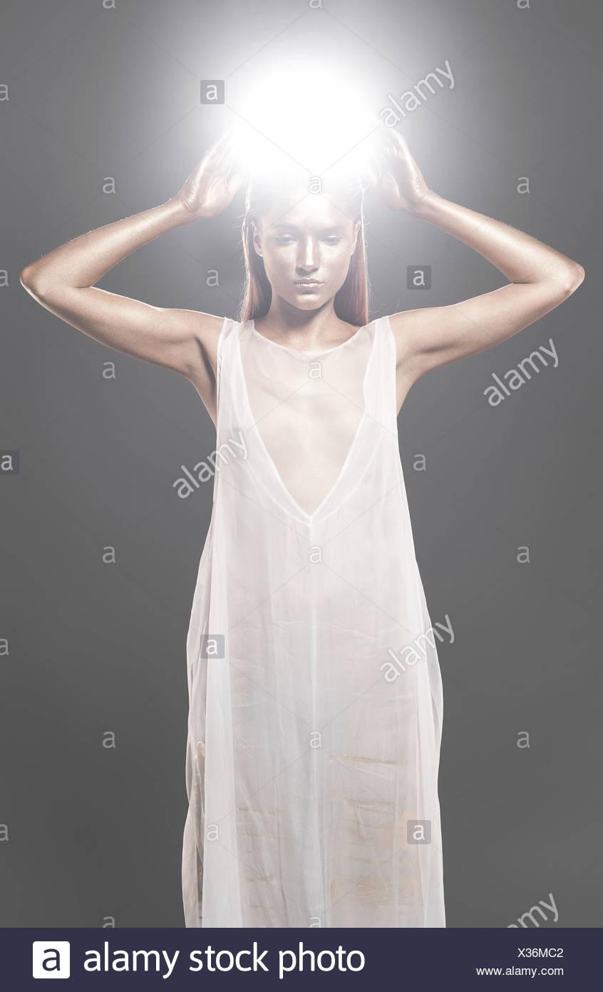 Fashion with a goddess theme - Stock Image